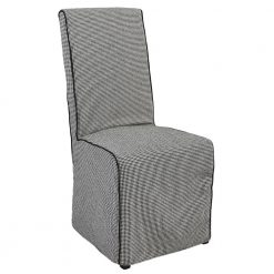 Arina Upholstered Houndstooth Dining Chair