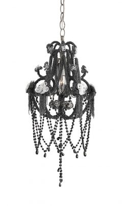Black Beaded Chandelier