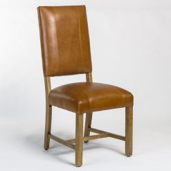 Briant Leather Dining Chair in Tobacco