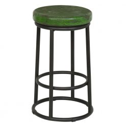 Reclaimed Stool in Green