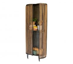 Fir & Metal 2 Door Cabinet - AS IS